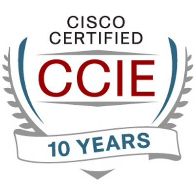 10 year CCIE certified logo